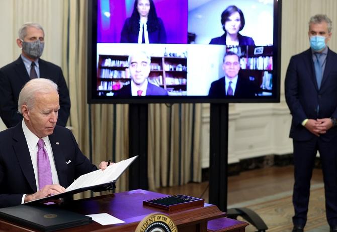 สหรัฐฯยุค'ไบเดน'กลับมาสนับสนุนWHO เตือนยอดตายอเมริกาทะลุ5แสนเดือนหน้า
