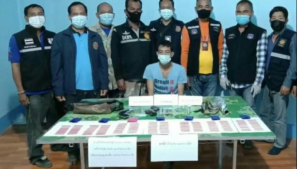 รวบเอเยนต์ยาเสพติดจันทบุรี ยึดยาบ้า  1,400  เม็ดอาวุธปืนพร้อมเครื่องกระสุนเพียบ