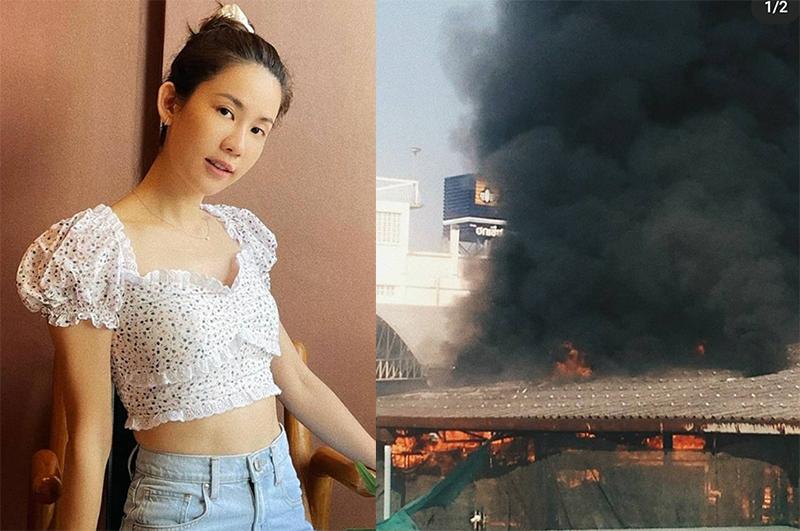 นักแสดงช่อง 3 เผยภาพไฟไหม้โรงงานสุดระทึก ล่าสุดทุกคนปลอดภัย