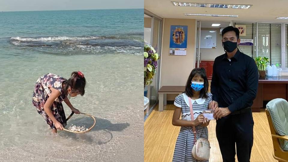 """ชีวิตใหม่เด็ก 10 ขวบ แม่จากไปด้วยโรคมะเร็ง """"นายกฯ ตุ้ย"""" รักเหมือนลูกสาวอีกคน ช่วยส่งเสียจนโต"""
