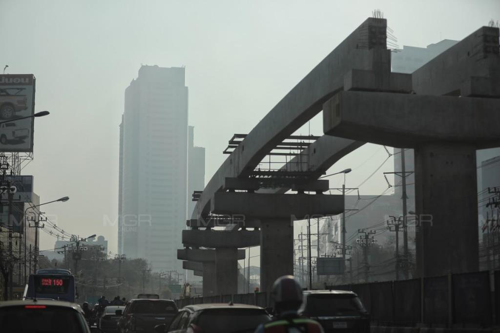 กทม. ค่าฝุ่น PM 2.5 เกินมาตรฐาน 53 พื้นที่ มีผลต่อสุขภาพ  แต่มีแนวโน้มเพิ่มขึ้น