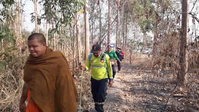 นอภ.เมืองพิษณุโลกขอสุนัขตำรวจร่วมค้นหาแม่เฒ่าหลงป่า หลังบินส่อง-เดินเท้าหา 14 ตร.กม.แล้วไม่พบ
