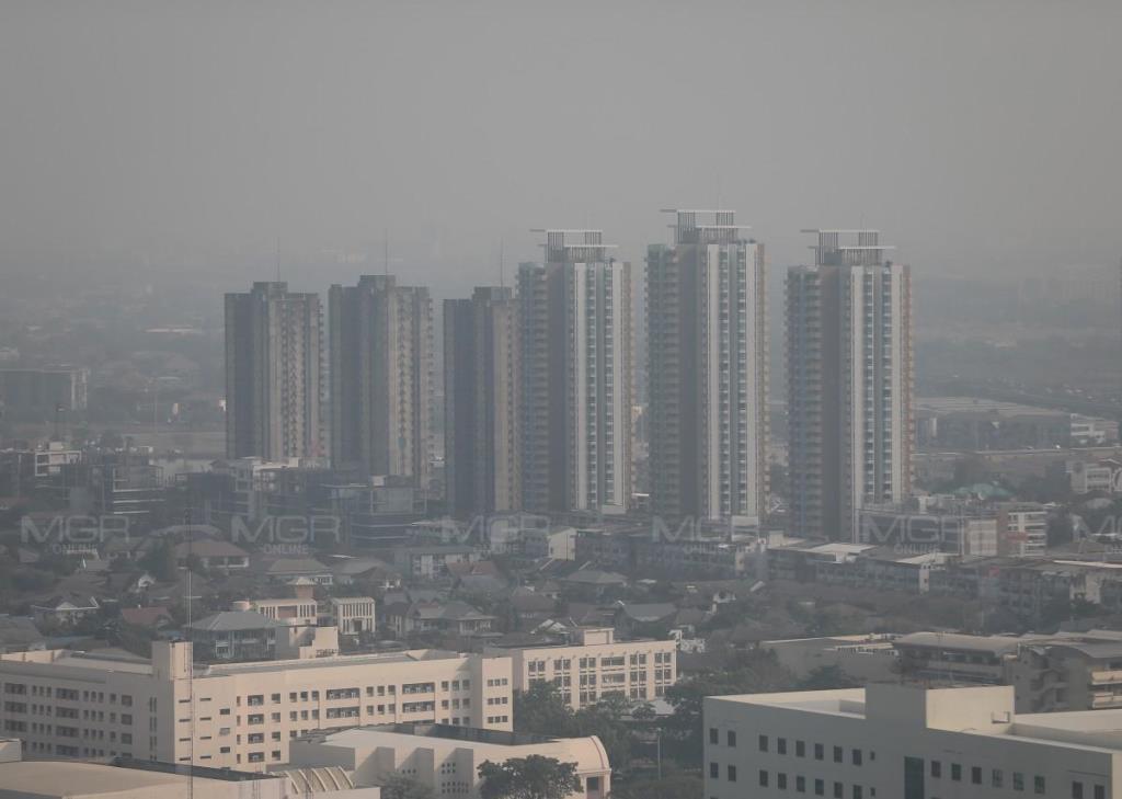 กทม.ค่าฝุ่นพิษ PM 2.5 เกินมาตรฐาน17 พื้นที่ มีแนวโน้มที่จะลดลง แต่ยังคงต้องสวมหน้ากากอนามัย