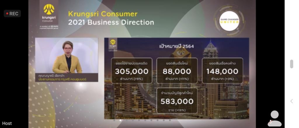 กรุงศรี คอนซูมเมอร์ตั้งเป้าใช้จ่ายผ่านบัตรโต9%-เน้นช่วยลูกค้าต่อเนื่อง