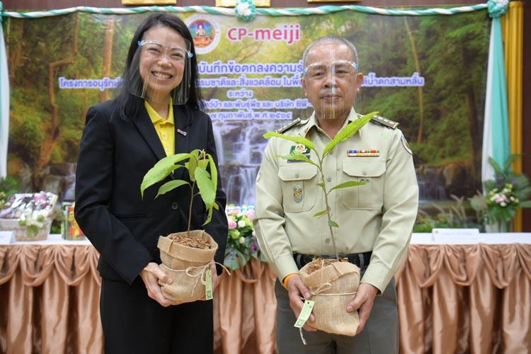 กรมอุทยานแห่งชาติฯ ลงนาม MoU ซีพี-เมจิ เพิ่มพื้นที่สีเขียว ในพื้นที่อุทยานแห่งชาติสามหลั่น จ.สระบุรี