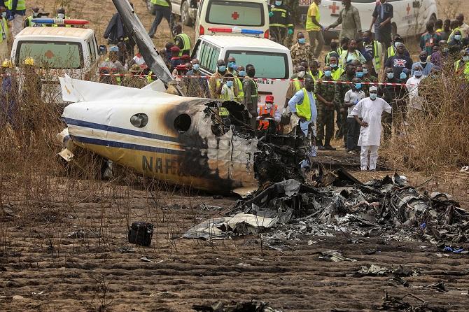 สลด!เครื่องบินทหารไนจีเรียตกก่อนร่วมภารกิจช่วยเหยื่อลักพาตัว ตายยกลำ