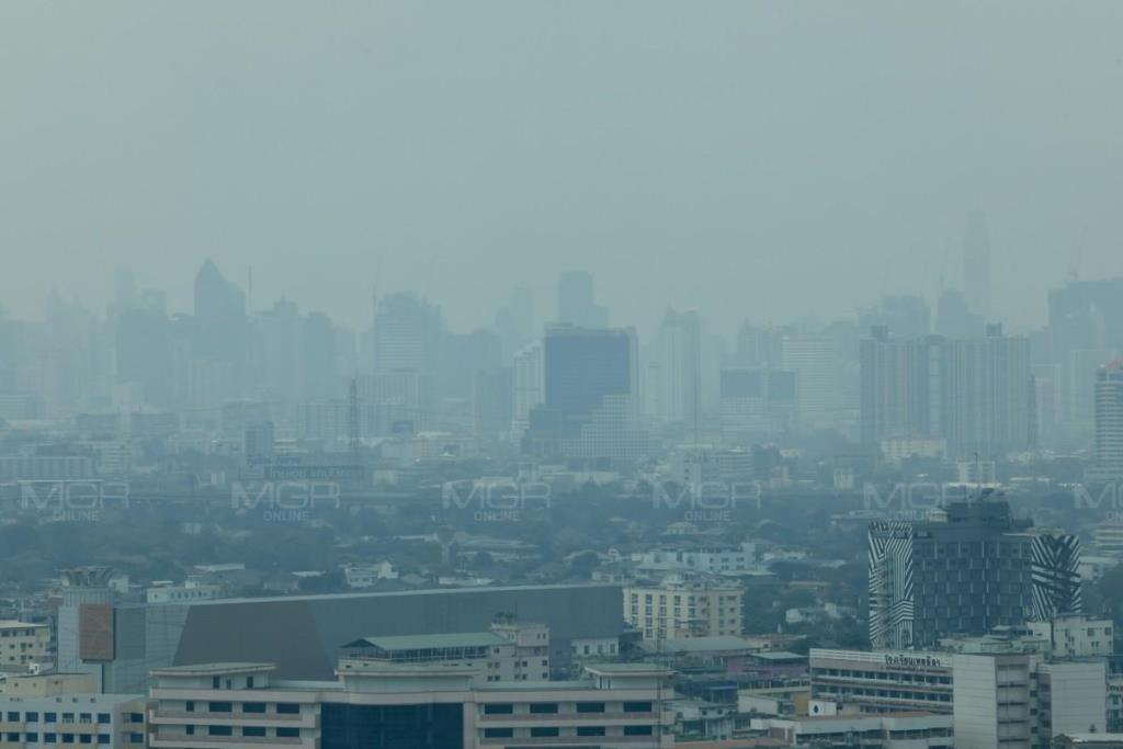 เช้านี้กทม. พบฝุ่น PM 2.5 เกินมาตรฐาน 54 พื้นที่ เริ่มมีผลกระทบต่อสุขภาพ เตือนงดกิจกรรมกลางแจ้ง