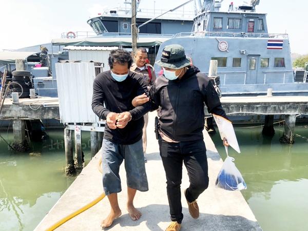 รวบหนุ่มลูกเรือกัมพูชากลางทะเล หลังหนีคดีข่มขืนเด็กที่ชะอำ