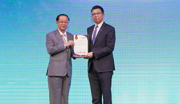 ไทยออยล์ รับรางวัล ASEAN Top 20 Publicly Listed Companies