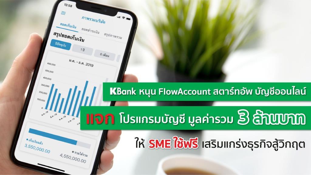 กสิกรไทยส่งโปรแกรมบัญชีให้ SME ใช้ฟรี-เสริมแกร่งธุรกิจสู้โควิด-19
