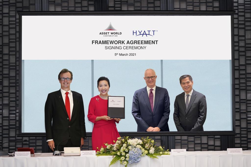 AWC จับมือไฮแอท ลงนาม พัฒนาโรงแรมเครือไฮแอท รวมกว่า 1,000 ห้องทั่วประเทศ