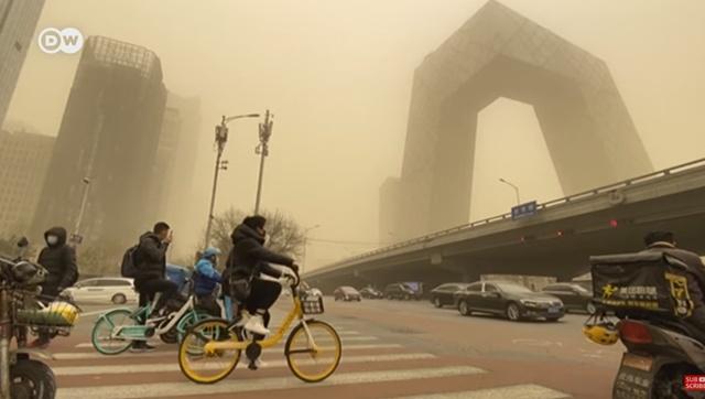 พายุทรายถล่มปักกิ่ง! หมอกควันสีส้มปกคลุมเมือง ครั้งเลวร้ายที่สุดในรอบทศวรรษ