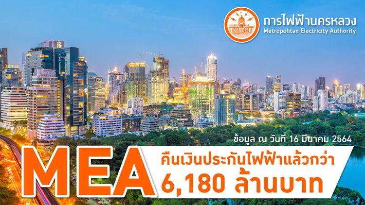 MEA คืนเงินประกันไฟฟ้าแล้วกว่า 6,180 ล้านบาท