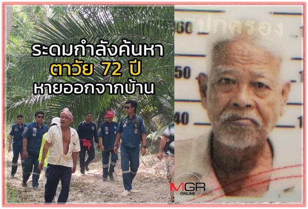เจ้าหน้าที่ระดมกำลัง 200 นาย ค้นหาตาวัย 72 ปี หลงป่าที่สุราษฎร์