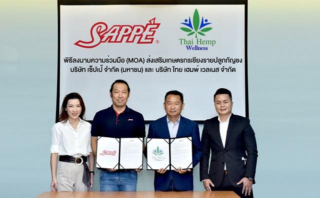 SAPPE ร่วมกับ ไทย เฮมพ์ เวลเนส ลงนาม MOA ส่งเสริมเกษตรกรเชียงรายปลูกกัญชง