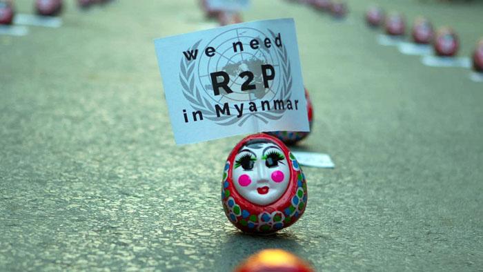 การนำตุ๊กตาล้มลุกมาใช้เคลื่อนไหวแทนคน 1 ในผลงานความคิดสร้างสรรค์ของกลุ่ม GenZ