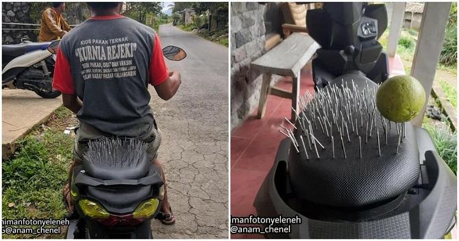 กลัวแฟนหึง!หนุ่มอินโดฯทำเบาะมอเตอร์ไซค์พิสดาร ป้องกันสาวๆซ้อนท้าย