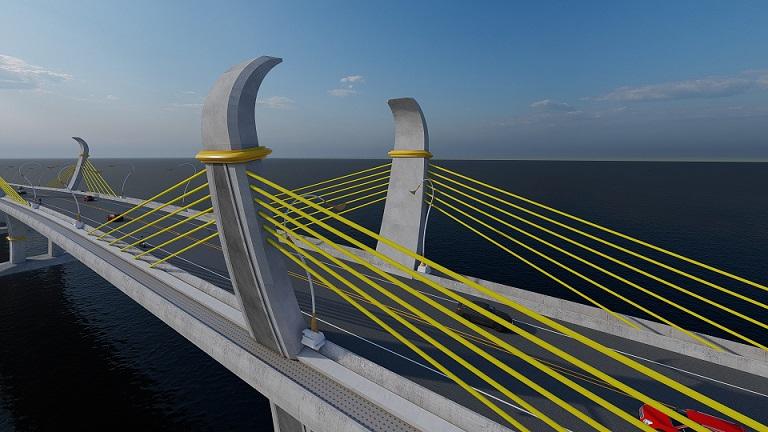 สะพานข้ามทะเลสาบสงขลา อำเภอกระแสสินธุ์,เขาชัยสน จังหวัดสงขลา ,พัทลุง