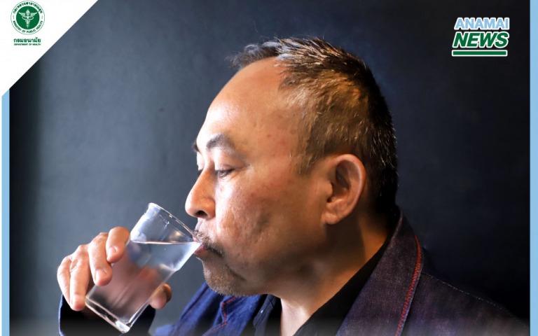 กรมอนามัย กระตุ้นผู้สูงอายุดื่มน้ำมากขึ้น เพื่อให้ได้น้ำเพียงพอ ลดเสี่ยงภาวะขาดน้ำ