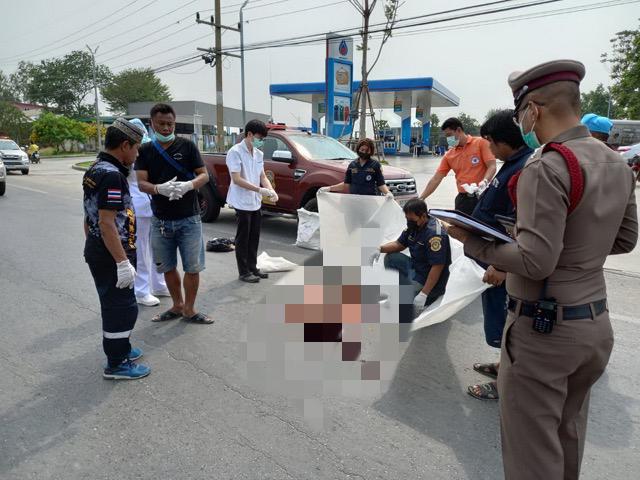 สิบล้อเฉี่ยวชนจักรยานยนต์หญิงสาวคนซ้อนท้ายถูกล้อทับสมองกระจายดับคาถนน