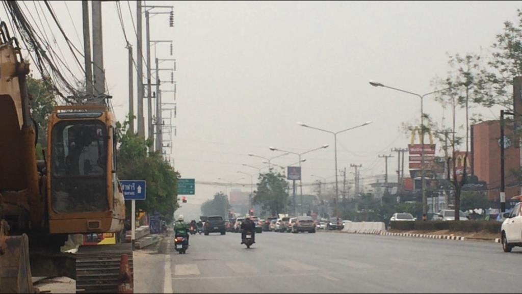 เชียงใหม่จุดความร้อนเผาลดฮวบแต่ฝุ่นควันยังหนาทึบคลุมเมืองPM2.5เกินค่าต่อเนื่อง