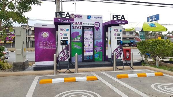 PEA ผนึกกำลัง บางจาก เปิดสถานีอัดประจุไฟฟ้าให้บริการ 24 ชม. ครอบคลุมทั่วประเทศไทย