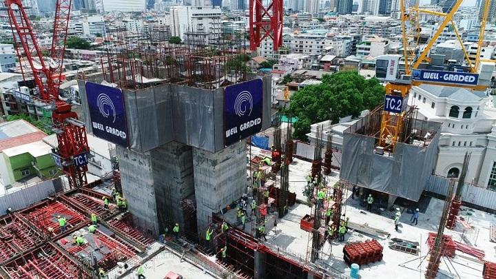 ก่อสร้างอาคารสูง