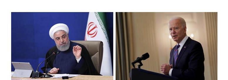 ฮัสซัน โรฮานี ประธานาธิบดีของอิหร่าน ?       โจ ไบเดน ประธานาธิบดีของสหรัฐฯ