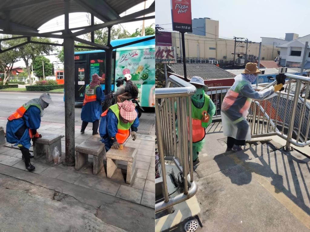 กทม.เพิ่มความถี่ทำความสะอาดพื้นที่ชุมชน สุขาสาธารณะ รพ.ในสังกัด ลดการแพร่กระจายเชื้อโควิด-19