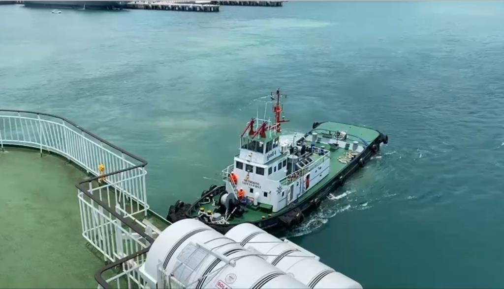 """กรมเจ้าท่า ทดสอบความพร้อมเรือThe Blue Dolphin เตรียมเปิดเดินเรือ""""สัตหีบ- สงขลา"""""""
