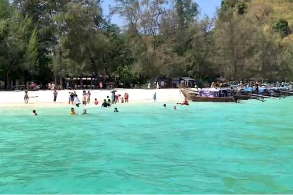 เข้ากระบี่ไม่ต้องกักตัว! คนไทยแห่เที่ยว4 เกาะดังแน่นทุกพื้นที่