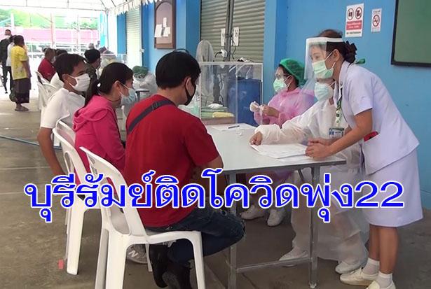 บุรีรัมย์ก็เอาไม่อยู่! พบป่วยโควิดเพิ่มอีก 7 ยอดสะสมพุ่งเป็น 22 ราย ยังคุมเข้มผู้มาจากพื้นที่เสี่ยง