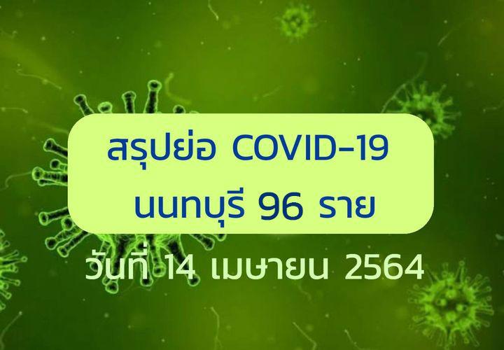นนทบุรี เผยไทม์ไลน์ผู้ติดโควิดรายใหม่ 96 ราย