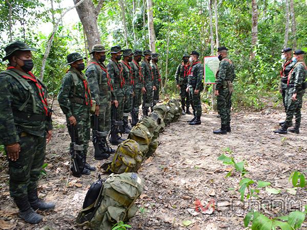 ผู้บังคับชุดป้องกันชายแดนกำชับกำลังพลป้องกันชายแดนสกัดช่องทางธรรมชาติ