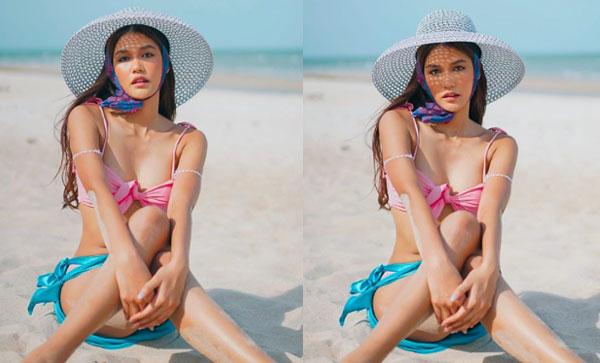 """ร้อนระอุทั้งหาด เมื่อ""""แนท อนิพรณ์"""" สวมทูพีซอวดหุ่นสุดปั๊วะ"""