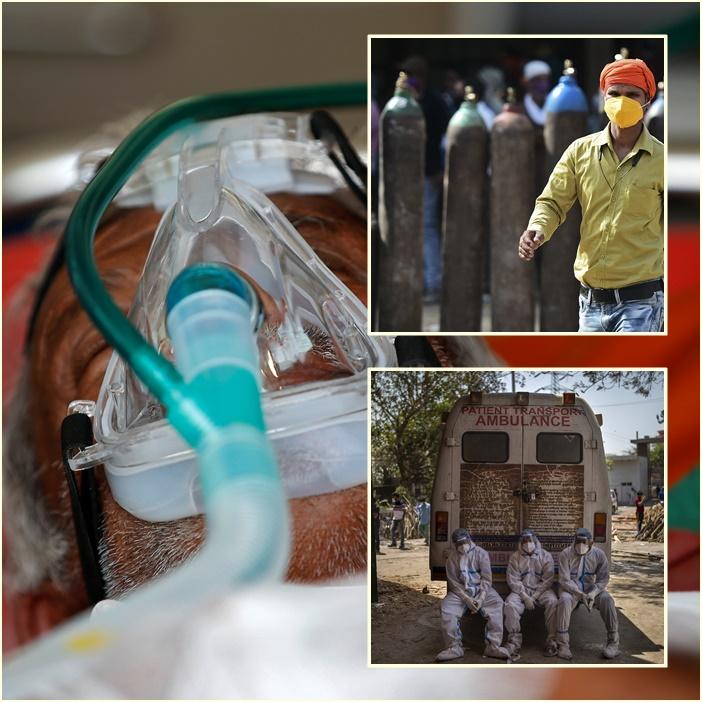 """หมออินเดียเตือน """"กระแสตื่นกักตุนถังออกซิเจน"""" ทั่วประเทศ คนไข้ตายคาเครื่องช่วยหายใจหลังออกซิเจนหมด"""