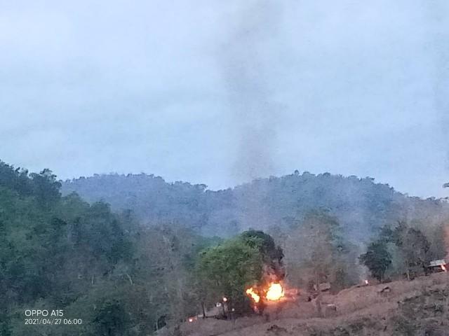 ด่วน!KNUเปิดฉากถล่มทหารพม่าริมฝั่งสาละวินตรงข้ามแม่สามแลบกระเจิง