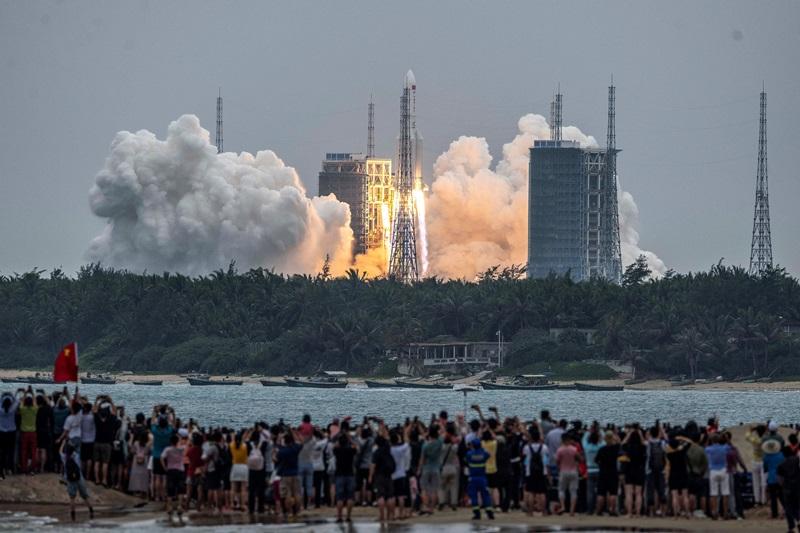 จีนส่ง'โมดูลเทียนเหอ'ขึ้นสู่วงโคจร  หลักชัยสำคัญจัดตั้ง'สถานีอวกาศถาวร'