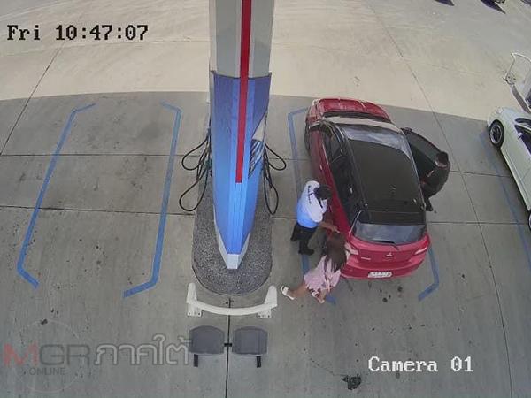 เจ้าของปั้มโพสต์เตือน 2 หนุ่มสาวขับเก๋งเติมน้ำมันแต่ไม่จ่ายเงินก่อนขับออกไปหน้าตาเฉย