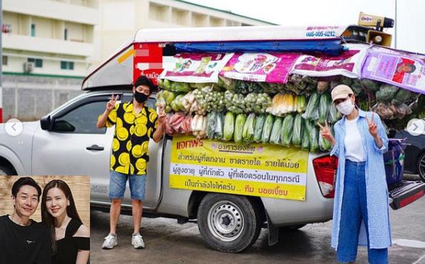 """น้ำใจงาม """"บอย- เจี๊ยบ"""" ส่งรถกับข้าวช่วยชาวบ้านผู้เดือดร้อนถึงที่"""