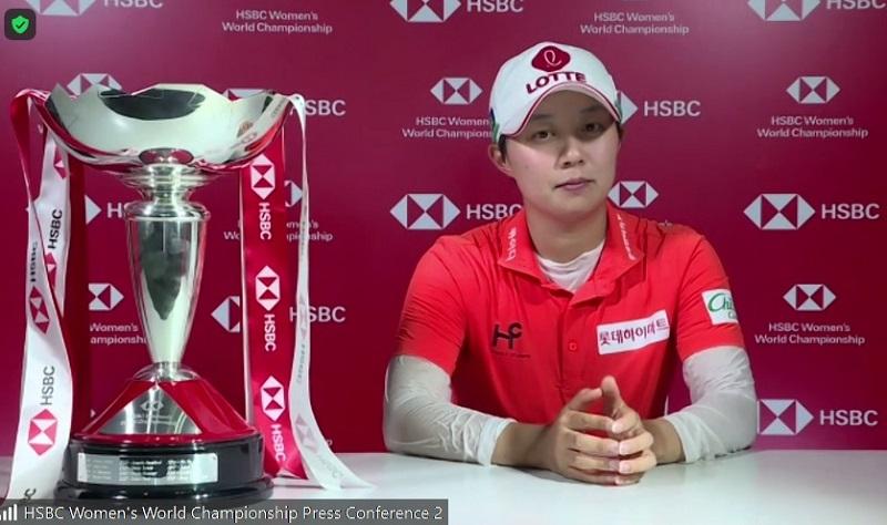 คิม ฮโย จู กับโทรฟีแชมป์แอลพีจีเอทัวร์รายการที่ 4 ของตัวเอง
