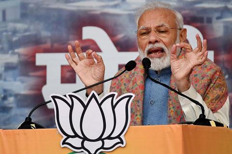 นเรนทรา โมดี นายกรัฐมนตรีอินเดีย