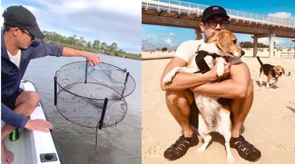 """คนหล่อมาให้หายคิดถึง  """"เวียร์ ศุกลวัฒน์"""" ยามว่างที่ออสเตรเลีย มีทั้งเล่นกับน้องหมา จับปู"""