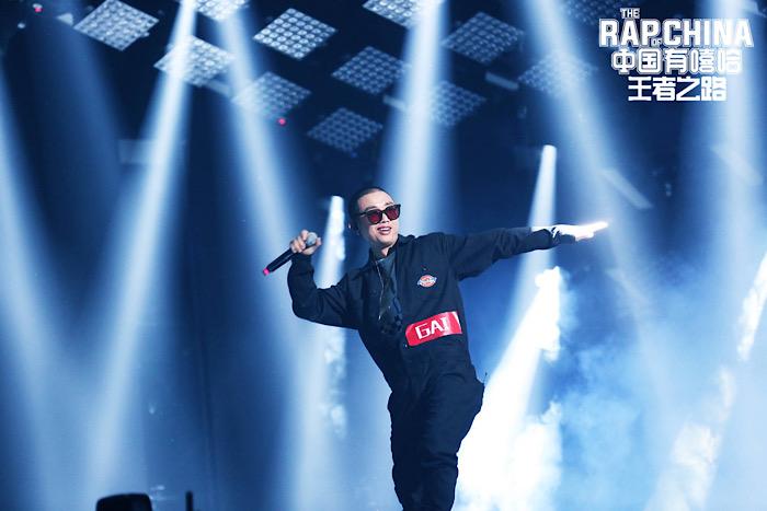 GAI ในรายการ The Rap of China ที่เขาคว้าแชมป์มาได้ในปี 2017 (แฟ้มภาพจาก เว่ยป๋อ)