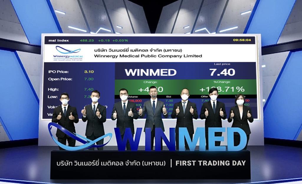 WINMED เข้าซื้อขายหุ้น IPO ในตลาดหุ้น mai เป็นวันแรก