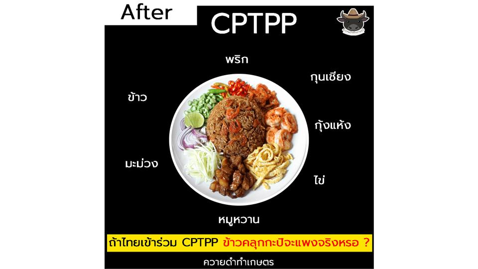 เพจเกษตรโต้ไทยเข้าร่วม CPTPP ข้าวคลุกกะปิไม่แพงเวอร์ ตามที่อินโฟกราฟฟิกว่อนเน็ต