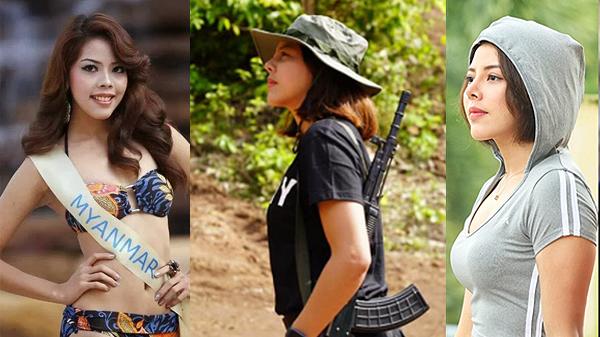 """ทำความรู้จัก """"ถ่า เต๊ต เต๊ต"""" อดีตนางามพม่า หลังตัดสินใจเข้าป่าจับปืนร่วมชนกลุ่มน้อยสู้รัฐบาล"""