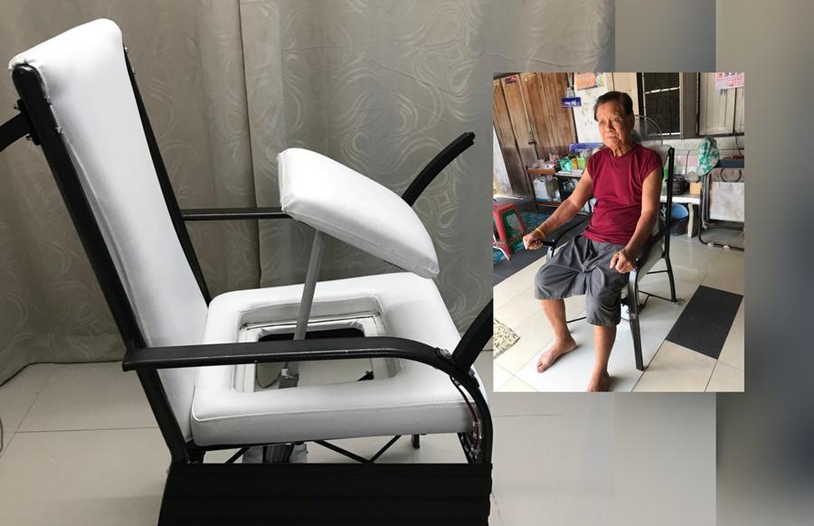 """สุดเจ๋ง! """"เก้าอี้ช่วยยืน"""" นวัตกรรมฝีมือเด็กไทย คว้ารางวัลเหรียญทอง ในเวทีนานาชาติ"""