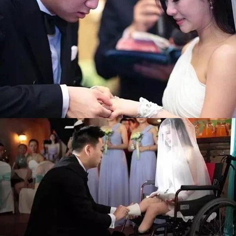 """ชาร์ลส์ส์บอกอย่างตั้งอกตั้งใจว่า ในวันแต่งงาน """"ผมอยากล้างขาให้เธอนะ อยากจะสวมขาเทียมให้เธอด้วยตัวเอง"""""""