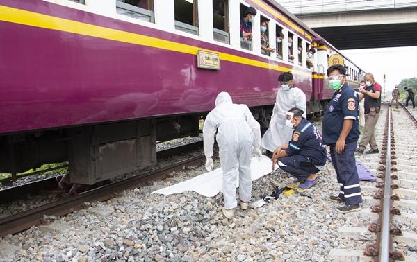 อีกแล้ว!! รถไฟขยี้ร่างชายนิรนาม แหลกคาราง บริเวณสถานีรถไฟบ้านโป่ง